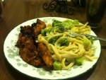 Grilled Teriak Chicken and Fettucini with Brocolli.JPG