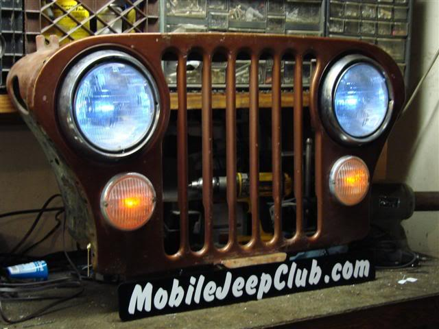 jeep cj grill logo. a late cj grill yj and tj grillfront hood sectionfender capsand front bumper problem is i have jeep parts stacked to the ceiling so no cj logo